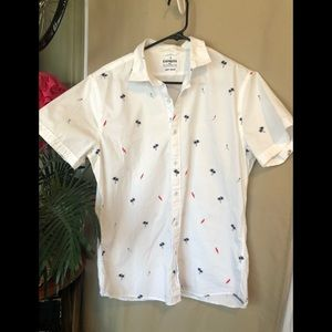 Express, men's button down dress shirt for summer